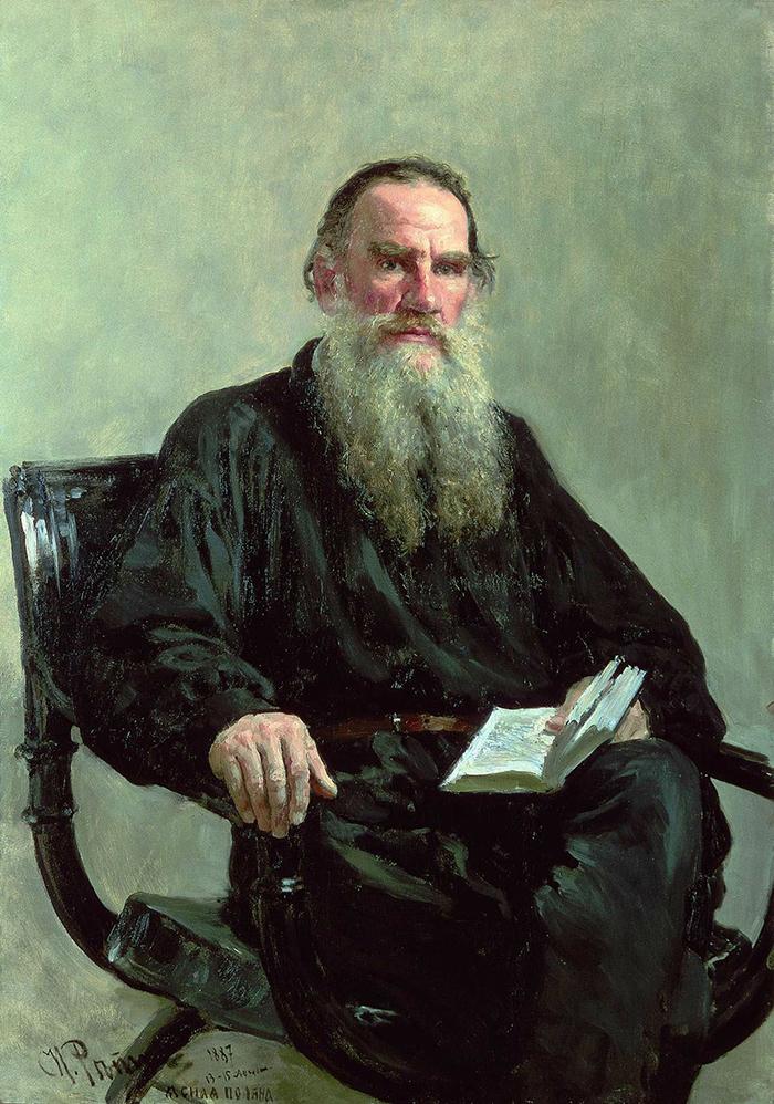 Chân dung Leo Tolstoy do Ilya Repin vẽ năm 1887